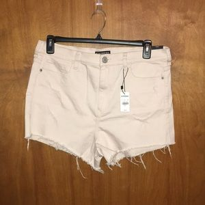 NWT Express Pink Distressed Shortie Highrise